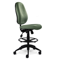 "9to5 Seating - Agent 8"" Mid-Back Counter Height Stool - 1668"