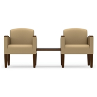 Lesro - The Belmont Series - 2 Chairs w/Connecting Center Table
