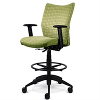 "9to5 Seating - Bristol 10"" Fabric Drafting Stool - 2366"