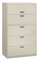 HON - Brigade 600 Series 5-Drawer Lateral