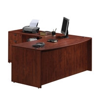 Pacific Coast Desk Classic Laminate Bow-Front L-Unit