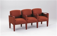 Lesro - The Brewster Series - 3 seats with center arms