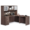 Pacific Coast Desk Classic Laminate Corner Unit with Hutch