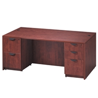 Pacific Coast Desk Classic Laminate Double Pedestal Desk