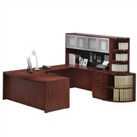 Pacific Coast Desk Classic Laminate Executive Bow Front U-Unit