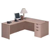 Pacific Coast Desk Classic Laminate Managerial L-Unit