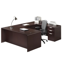 Pacific Coast Desk Classic Laminate Managerial U-Unit