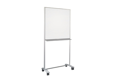 Claridge - Connect X2 Mobile - Partial Height, Double-Sided Markerboard & Tackboard