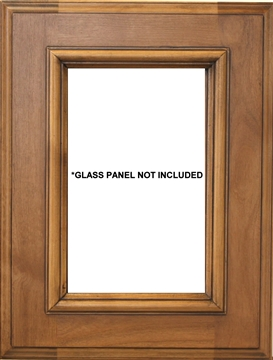 Los Angeles Glass Panel Cabinet Door