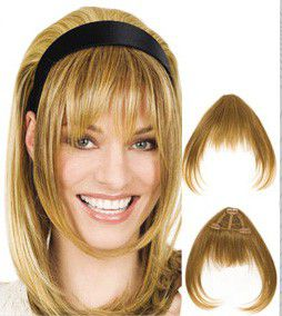 Pony 166 Long Human Hair Bangs with Fringe