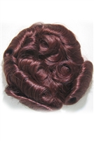 "Human Hair 4"" x 4"" Mini Topper Wiglet"