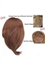 Human Hair Monofilament Topper
