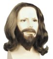 Human Hair Biblical Wig and Beard Set