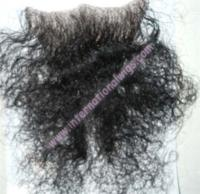 Curly Human Hair Merkin In Black
