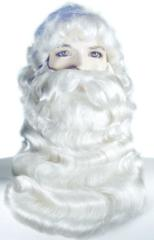 Super Deluxe Santa Wig and Beard Set