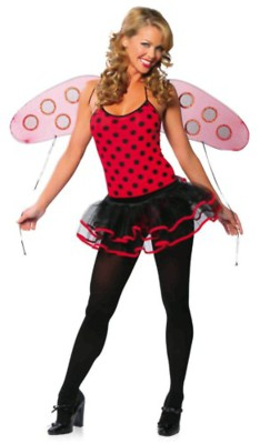 3 Piece Pin-Up Lady Bug Body Suit