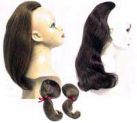 Mini Fall Human Hair Half Wig