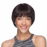 Eldora Human Hair Wig in Natural Black