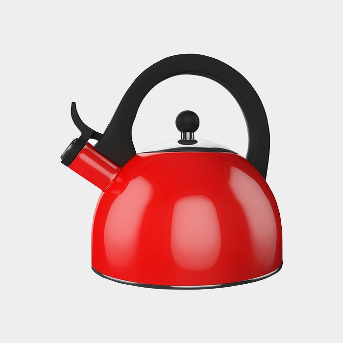 Retro Red Whistle Kettle