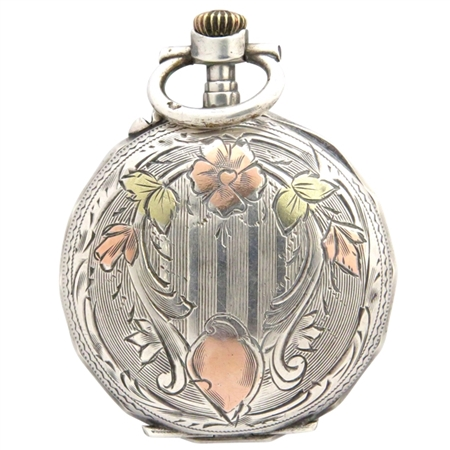 Charming Silver and Copper Watch Case