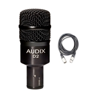 Audix D2 Dynamic Instrument Microphone with Mic Cable, AUDXD2-Bundle-1, XD2