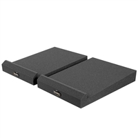 Auralex MoPAD-XL 2 Inches tall and 12 Inches by 8.75 Inches Monitor Acoustic Isolation Pads, Charcoal (1 Pair), AURMOPAD-XL, MOPAD-XL