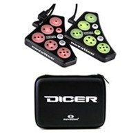 Novation Dicer Cue Point Controller with Dicer Case Bundle, NOVDICER-BUNDLE-1, DICER