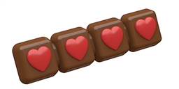 Big Heart Break-Away Chocolate Mold