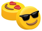 Sunglasses & Heart Eyes Emoji Cookie Mold