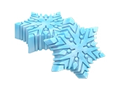 Mini Snowflake Cookie Mold