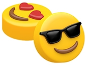 Sunglasses & Heart Eyes Emoji Soap Mold