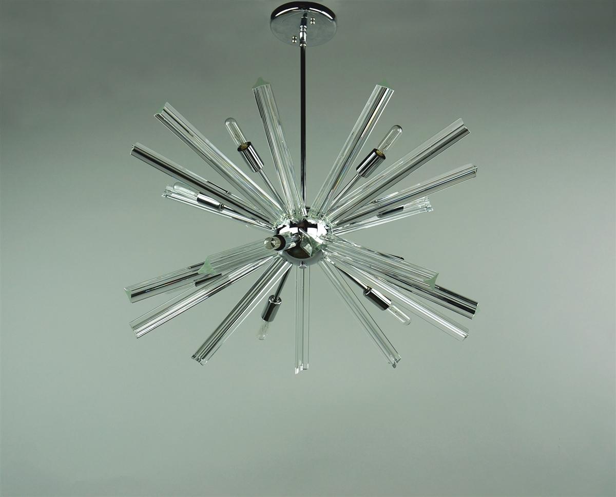 Sputnik chandelier chrome 27 39 39 in diameter with 20 crystal for Sputnik chandelier