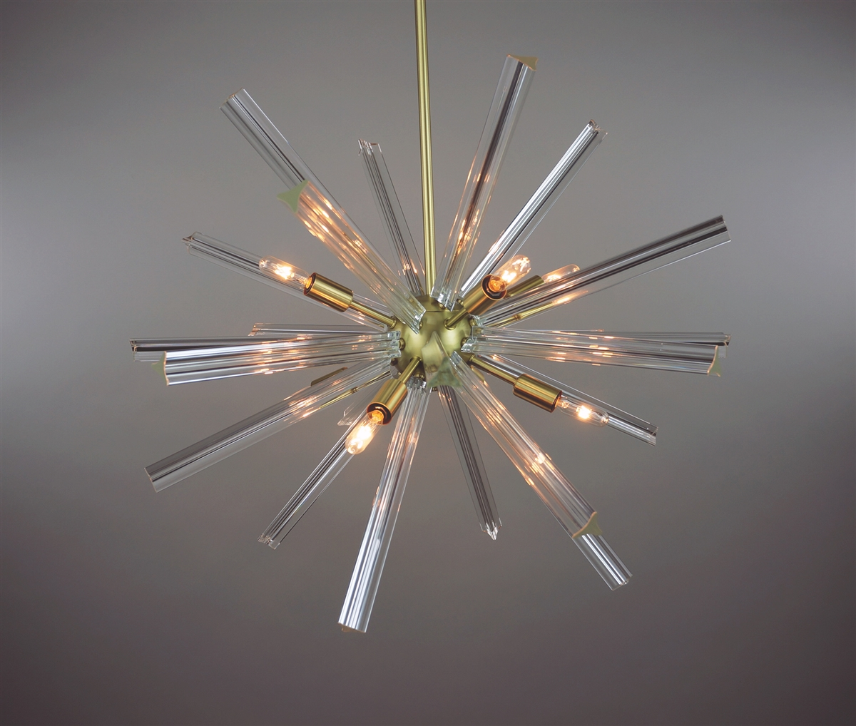 Sputnik chandelier satin brass 27 in diameter with 24 crystal have mozeypictures Image collections