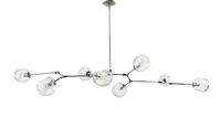 Branching Bubble chandelier with Polished nickel Finish