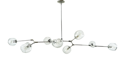Branching chandelier with Polished nickel Finish