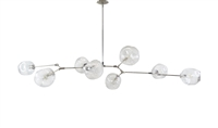 Branching Bubble Chandelier Brass with polished nickel Finish