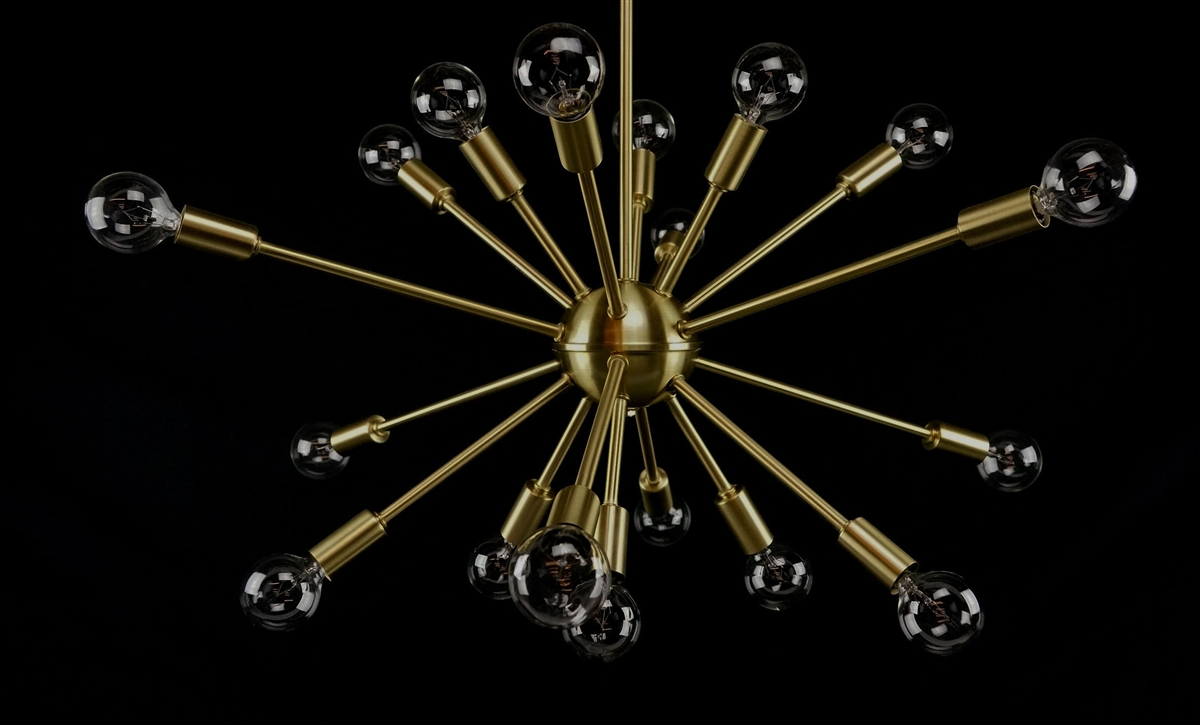 Brushed brass sputnik chandelier 23 inches in diameter with 18 arms have arubaitofo Image collections
