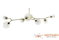 Branching Chandelier Brass with Satin Finish