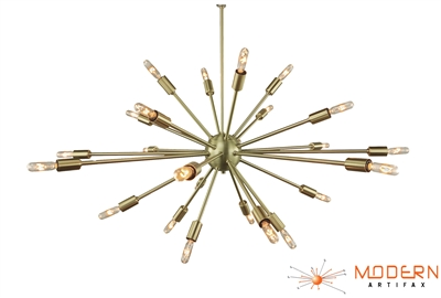 Mid Century Modern Sputnik with Brushed Finish