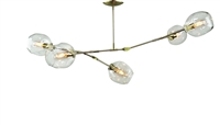 Branching Bubble Chandelier Brass with Satin Finish