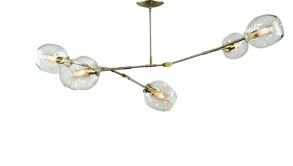 branching bubble chandelier brass with satin finish - Bubble Chandelier