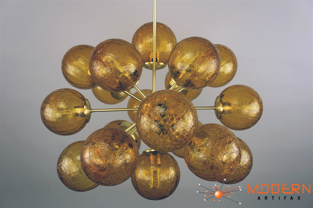 Sputnik chandelier satin brass 28 in diameter with 18 arms alternative views mozeypictures Image collections