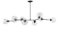 Branching Bubble Chandelier Brass with Oil Rubbed Bronze Finish