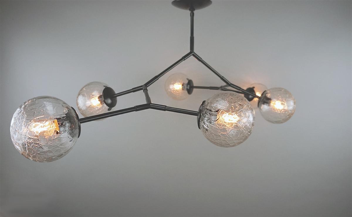 Branching bubble chandelier custom color vintage crackle globes our arubaitofo Images