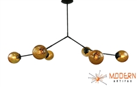 Branching Bubble Fixture Oil Rubbed Bronze Finish Vintage Crackle Globes