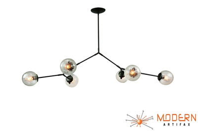 Branching Chandelier Oil Rubbed Bronze Finish Vintage Crackle Globes