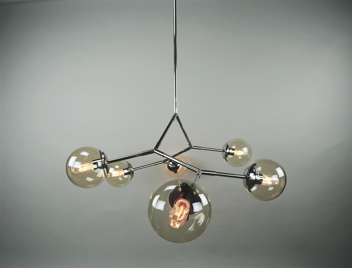 Branching bubble stainless steel fixture with light smoke round have arubaitofo Image collections