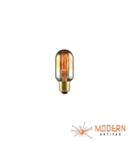 Edison Radio Style Light Bulb Tubular Smoke Amber Glass Vintage 30W