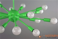Neon Green Finish Sputnik Chandelier
