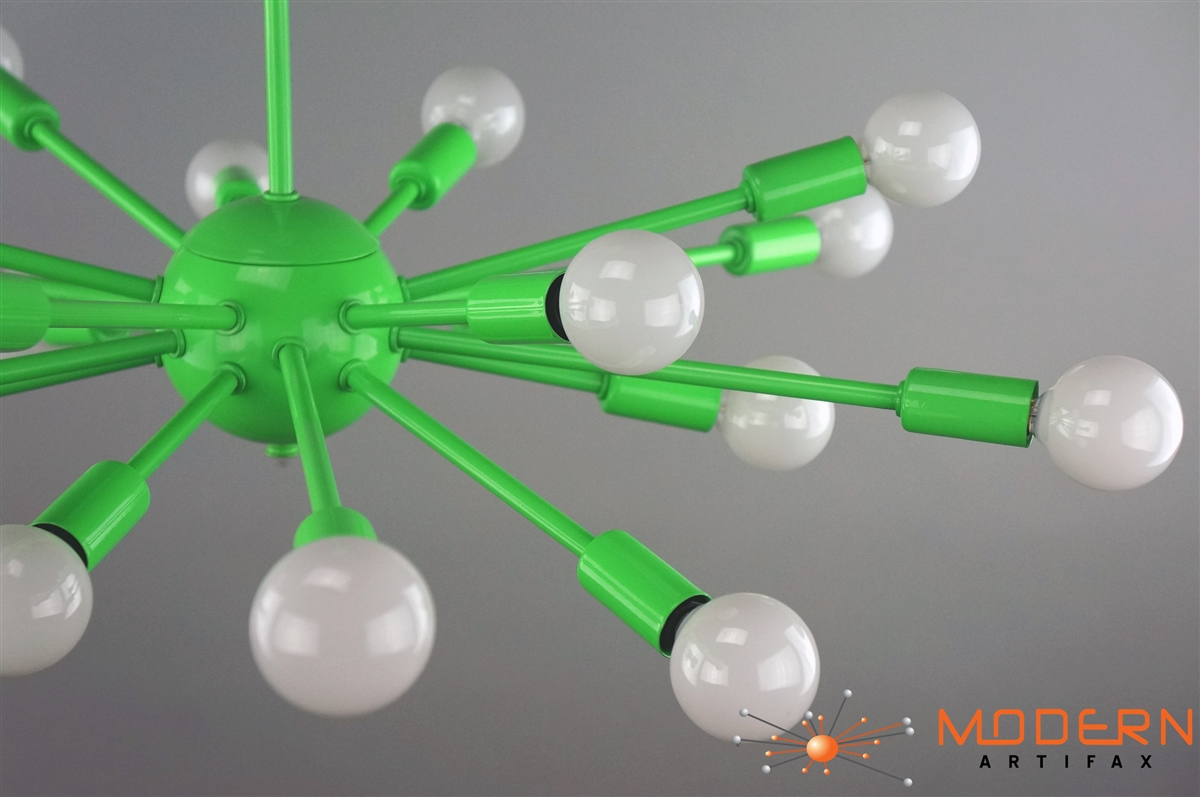 24 inches in diameter with 18 arms lamp has a flat shape alternative views aloadofball Choice Image